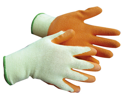 gloves with rubber grip