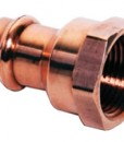Copper Female Reducing Adapter, P x FPT - Small