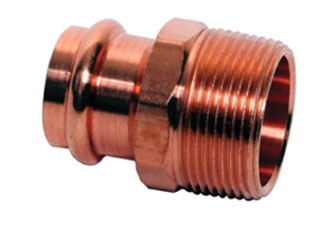 Copper Male Reduing Adapter, P x MPT – SMALL
