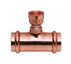Copper Reducing Tee, P X P X FPT - SMALL